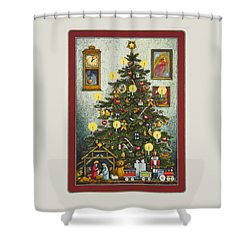 Waiting For Christmas Morning Shower Curtain