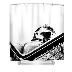 Shower Curtain featuring the photograph Waiting For The Future by Stwayne Keubrick