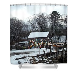 Shower Curtain featuring the photograph Waiting For Lobster by Barbara McDevitt