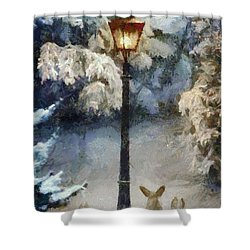 Waiting For Santa 2 Shower Curtain