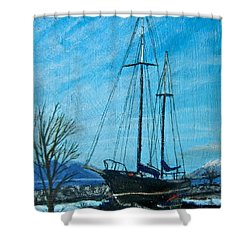 Waiting For Springtime. Shower Curtain