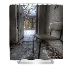 Waiting For The Cold War Shower Curtain by Nathan Wright