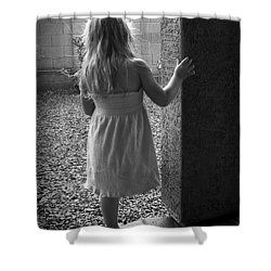 Shower Curtain featuring the photograph Waiting For The Rain To End  by Lucinda Walter