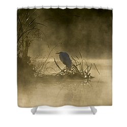 Shower Curtain featuring the photograph Waiting For The Sun by Steven Sparks