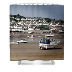 Waiting For The Tide Shower Curtain by Pennie  McCracken