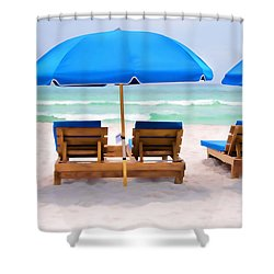 Shower Curtain featuring the photograph Panama City Beach Digital Painting by Vizual Studio