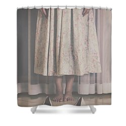 Waiting Ghost Shower Curtain by Joana Kruse