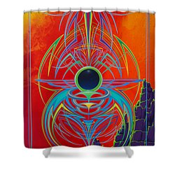 Waiting Over Sedona Shower Curtain by Alan Johnson