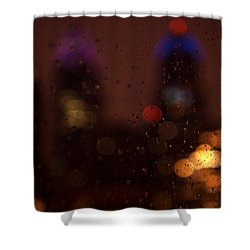 Waiting  Shower Curtain by Rona Black