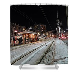 Waiting To Go Home Shower Curtain by Barbara McDevitt