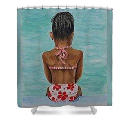 Waiting To Swim Shower Curtain