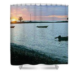 Waitukubuli Sunset Shower Curtain