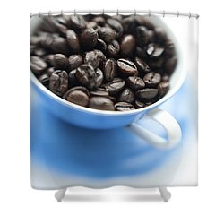 Wake-up Cup Shower Curtain by Priska Wettstein