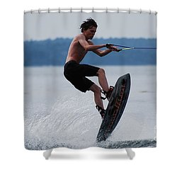 Wakeboarder Shower Curtain