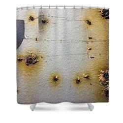Waking Rust Shower Curtain by David Stone