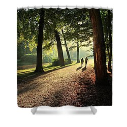 Walk Shower Curtain by Annie Snel