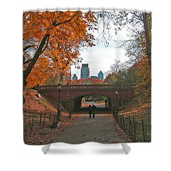 Walk In The Park Shower Curtain by Barbara McDevitt