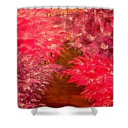 Walk In The Park Shower Curtain by Mark Moore