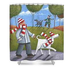 Walk In The Park Shower Curtain by Peter Adderley