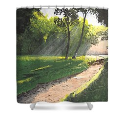 Walk Into The Light Shower Curtain by Norm Starks