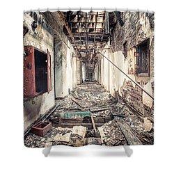 Walk Of Death - Abandoned Asylum Shower Curtain by Gary Heller