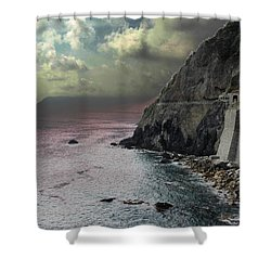 Shower Curtain featuring the photograph Walk Of Love Riomaggiore by Natalie Ortiz