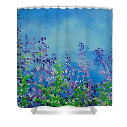Walk Out Into The Fields Shower Curtain