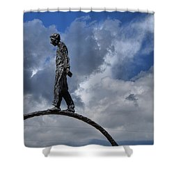 Walk The Ring Shower Curtain