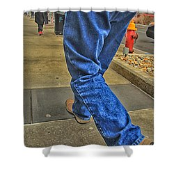 Walk The Truth Shower Curtain by Karol Livote