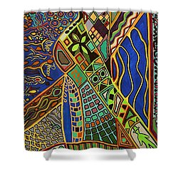 Walk This Way Shower Curtain by Barbara St Jean