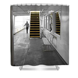 Shower Curtain featuring the photograph Walk This Way by Marilyn Wilson