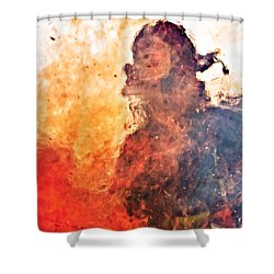 Walk Through Hell Shower Curtain by Everet Regal