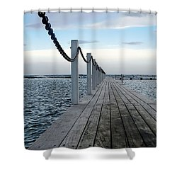 Walk To The Ocean Shower Curtain by Kaye Menner