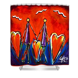 Walk With Me Shower Curtain by Jackie Carpenter