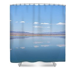 Walker Lake Mirror Shower Curtain