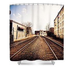 Walkers Point Railway Shower Curtain