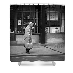 Walking Down The Street Shower Curtain by Chevy Fleet
