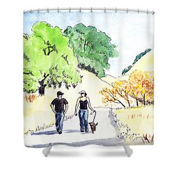 Walking In The Park Shower Curtain