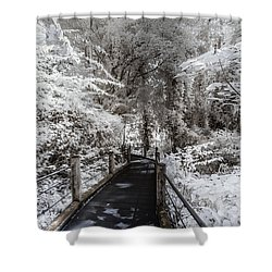 Walking Into The Infrared Jungle 1 Shower Curtain