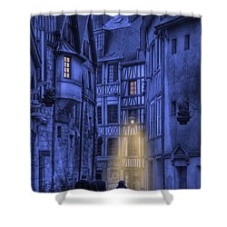 Walking Into The Past Shower Curtain by Jean-Pierre Ducondi
