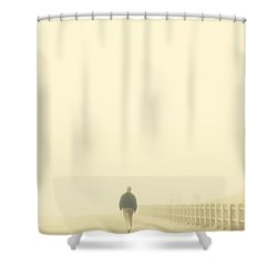 Walking Into The Unknown Shower Curtain by Karol Livote