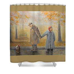 Walking Miss Daisy Shower Curtain