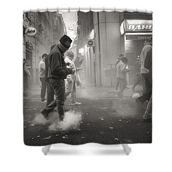 Walking On Clouds In Valencia Shower Curtain
