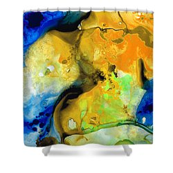 Walking On Sunshine - Abstract Painting By Sharon Cummings Shower Curtain by Sharon Cummings