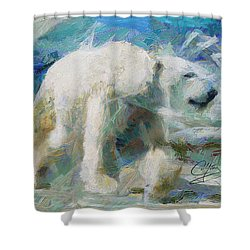 Shower Curtain featuring the painting Cold As Ice by Greg Collins