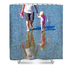 Walking On Water Shower Curtain by Steve Taylor