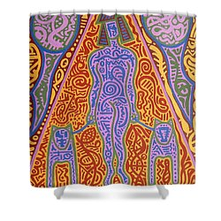 Walking The Dogs Shower Curtain by Patrick J Murphy