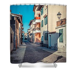 walking through Grado - through the past Shower Curtain
