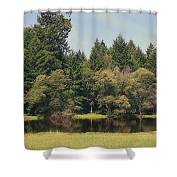 Walking Through The Grass Shower Curtain by Laurie Search