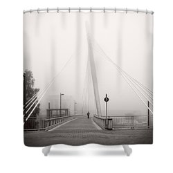 Walking Through The Mist Shower Curtain